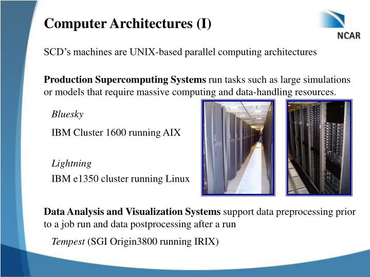 Computer Architectures (I)