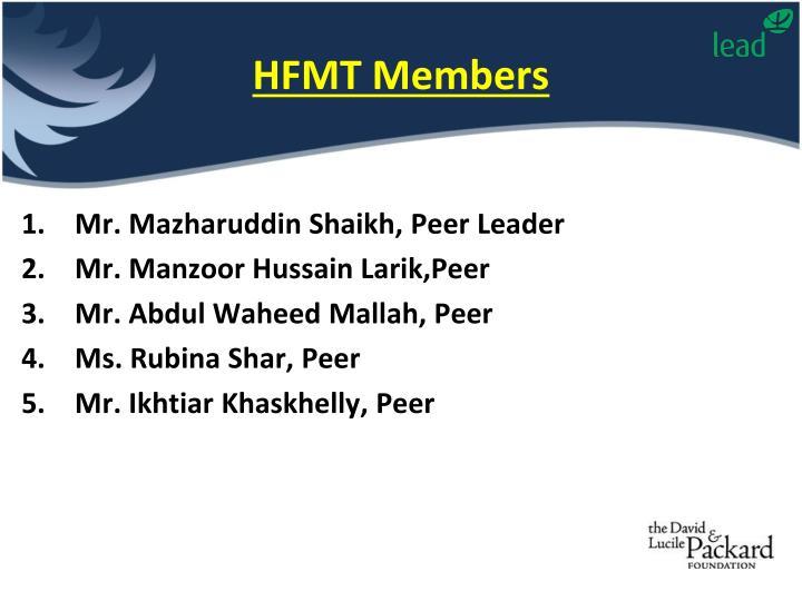 HFMT Members