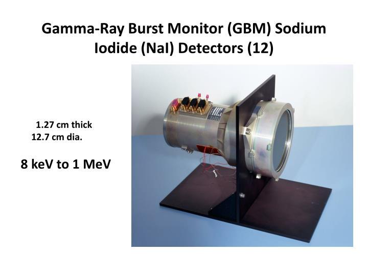 Gamma-Ray Burst Monitor (GBM) Sodium Iodide (NaI) Detectors (12)