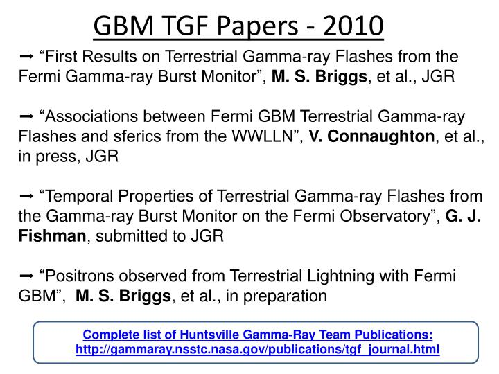 GBM TGF Papers - 2010