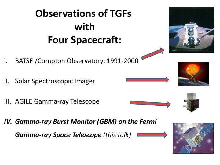 Observations of TGFs