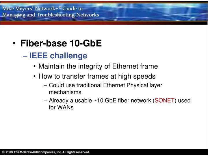 Fiber-base 10-GbE