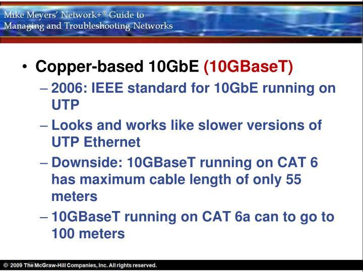Copper-based 10GbE
