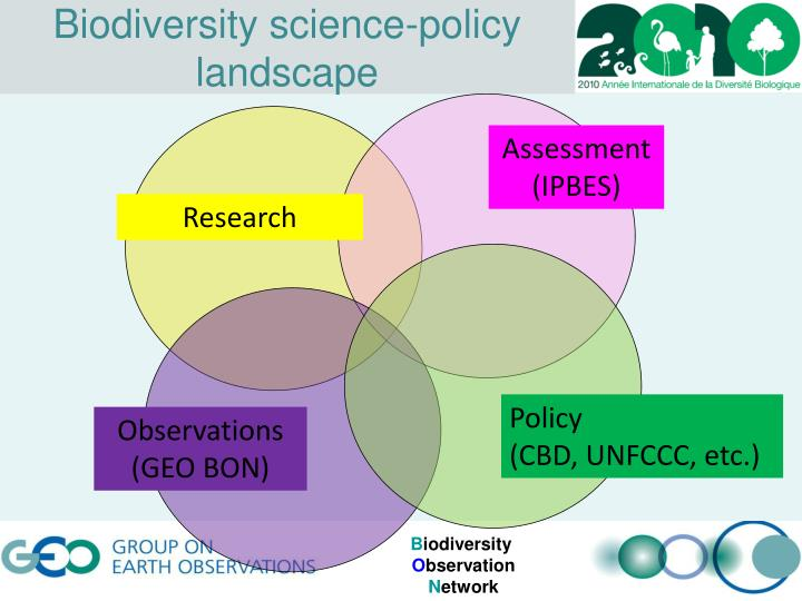 Biodiversity science-policy landscape