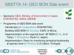 sbstta 14 geo bon side event