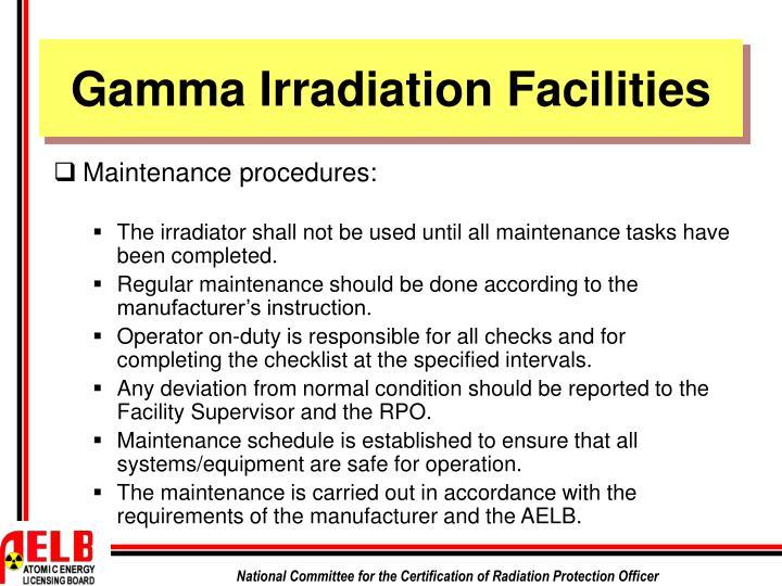 Gamma Irradiation Facilities