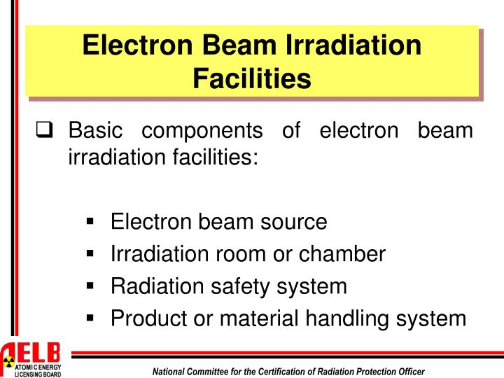Electron Beam Irradiation Facilities