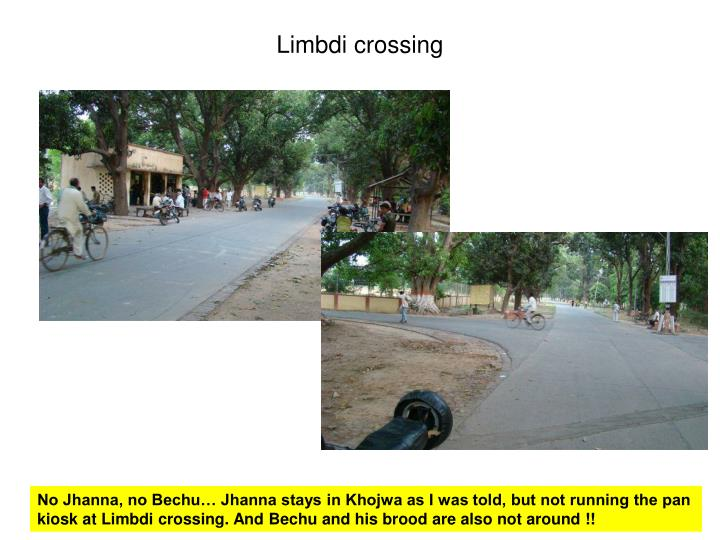 Limbdi crossing