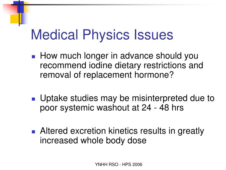 Medical Physics Issues