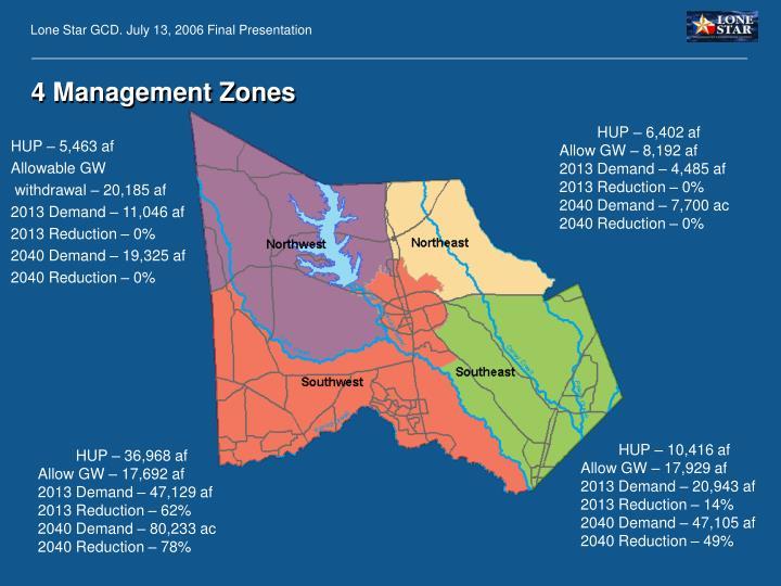 4 Management Zones
