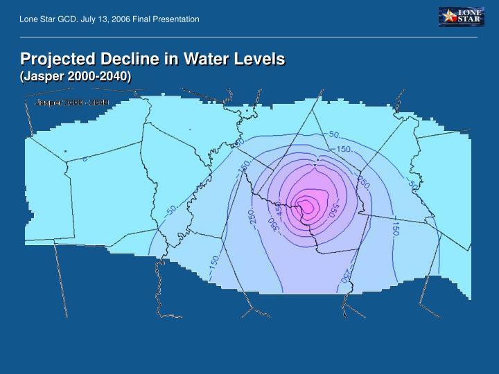 Projected Decline in Water Levels