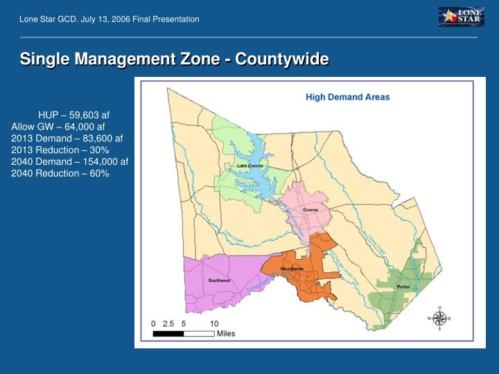 Single Management Zone - Countywide