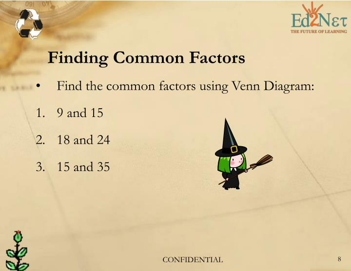 Finding Common Factors