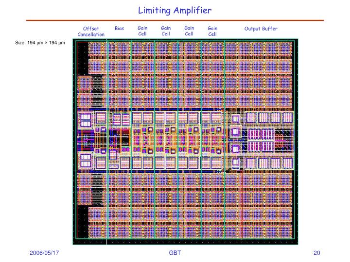 Limiting Amplifier