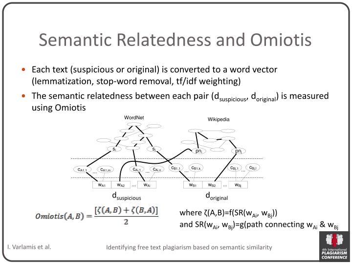 Semantic Relatedness and