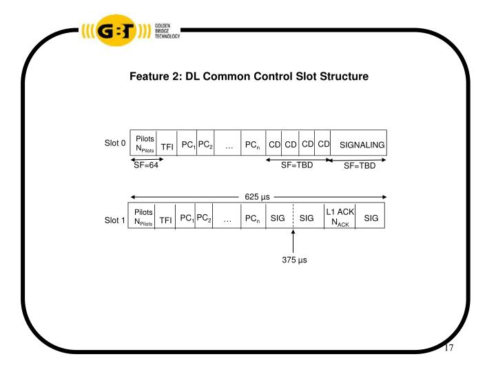 Feature 2: DL Common Control Slot Structure