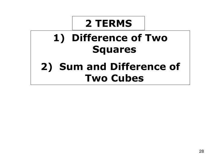 2 TERMS