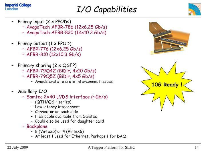 Primay input (2 x PPODs)