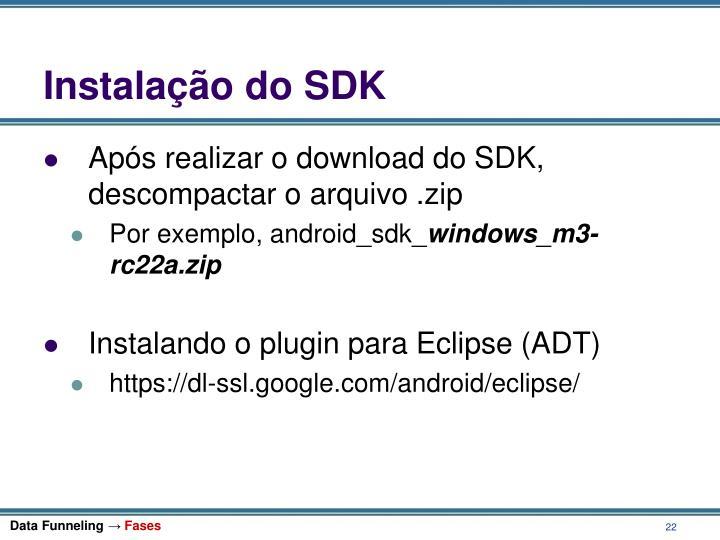 Instalação do SDK