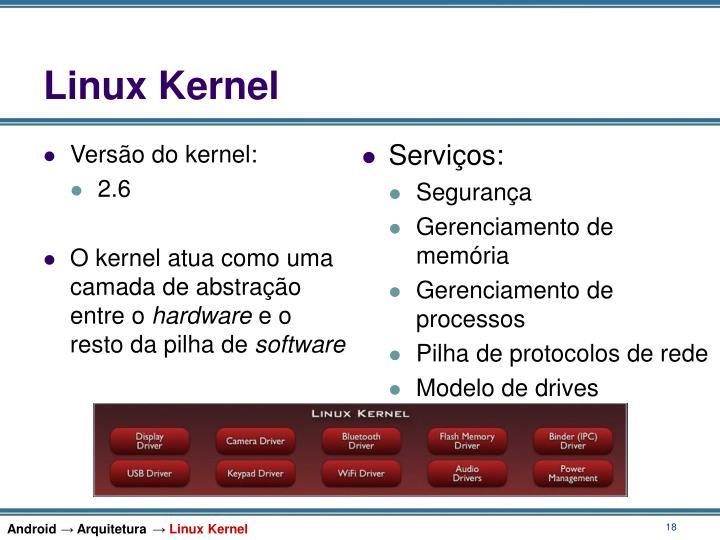 Versão do kernel: