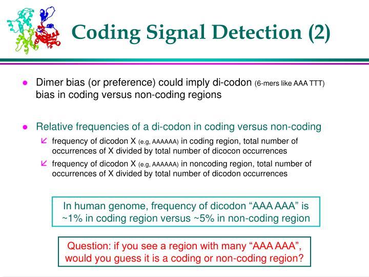 Coding Signal Detection (2)