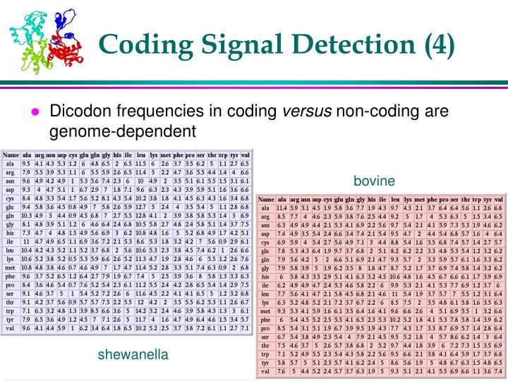 Coding Signal Detection (4)