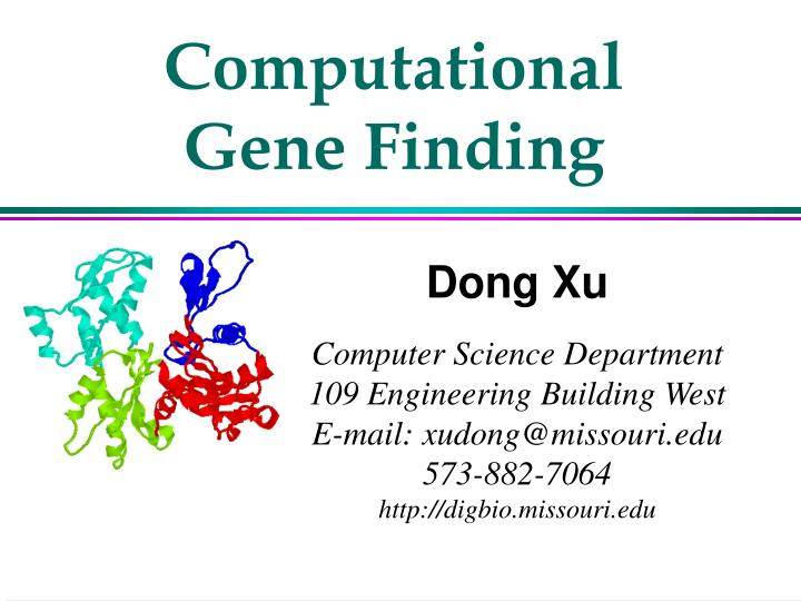 Computational Gene Finding