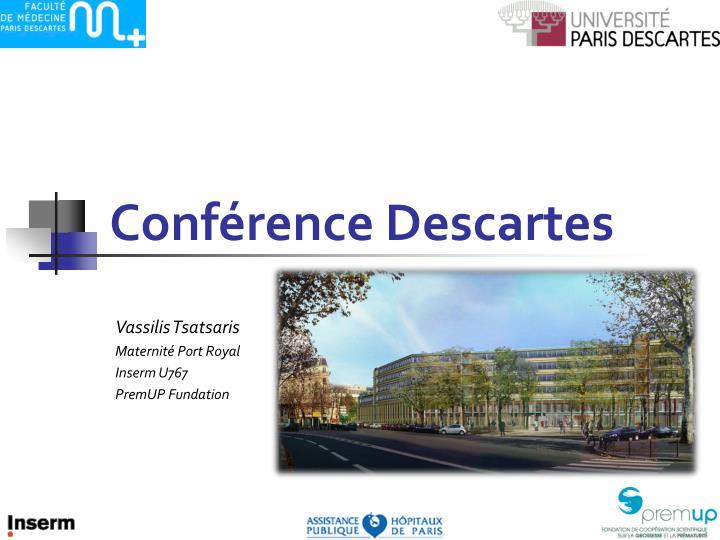 Conférence Descartes