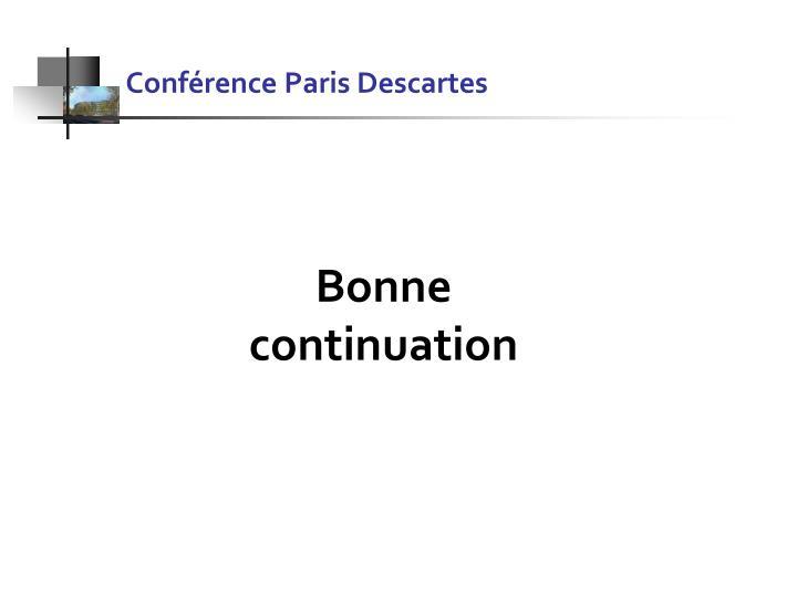 Conférence Paris Descartes