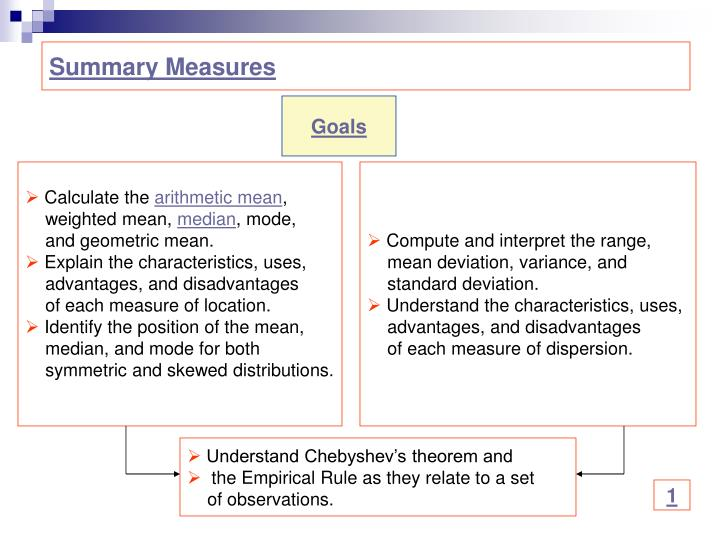 Summary Measures
