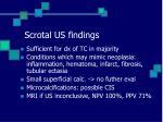 scrotal us findings