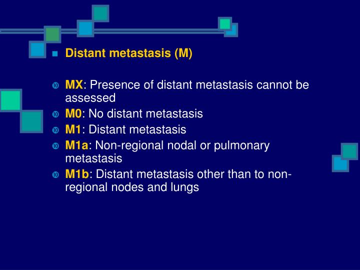Distant metastasis (M)