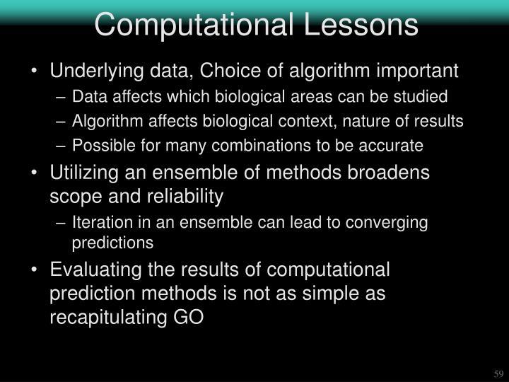Computational Lessons