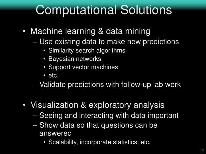 Computational Solutions