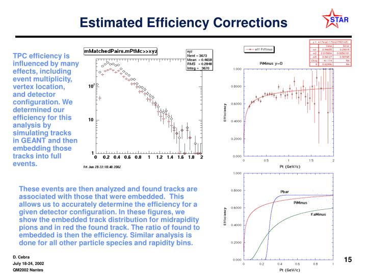 Estimated Efficiency Corrections