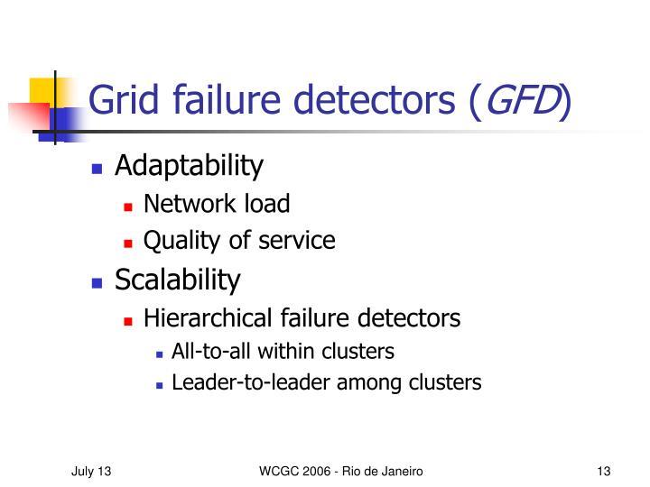 Grid failure detectors (