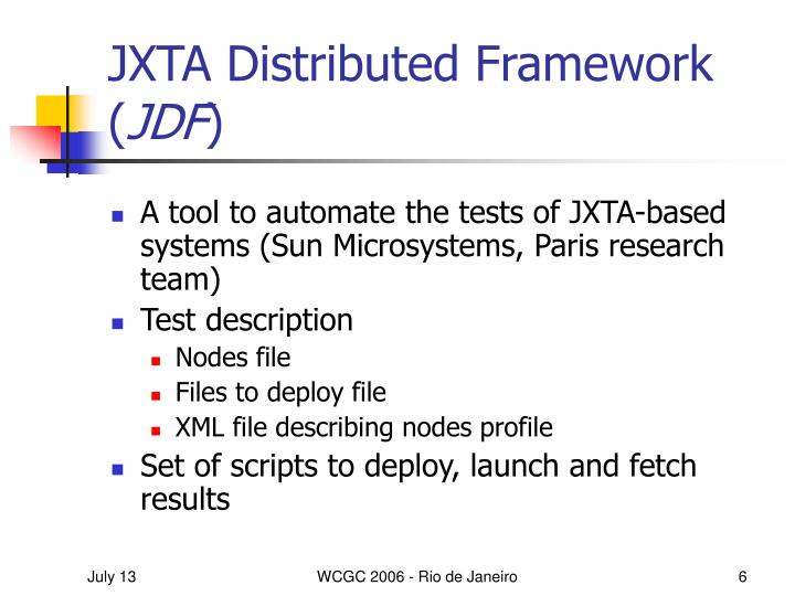 JXTA Distributed Framework