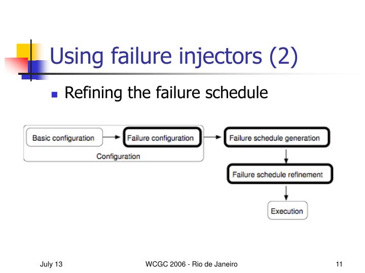 Using failure injectors (2)
