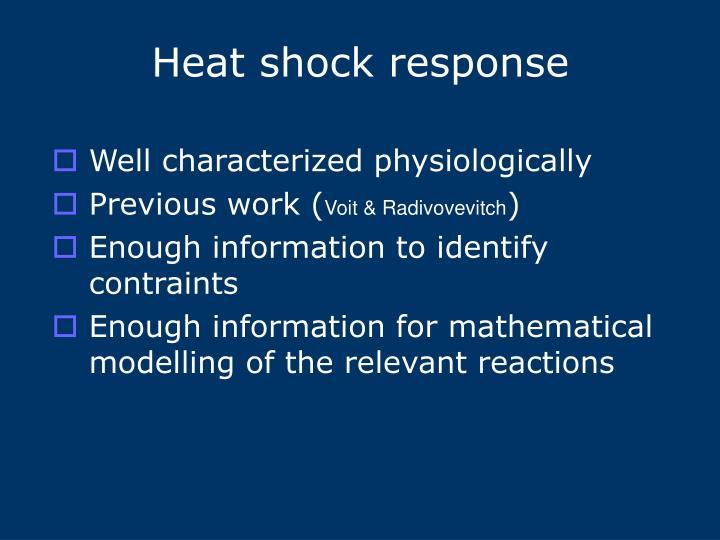 Heat shock response