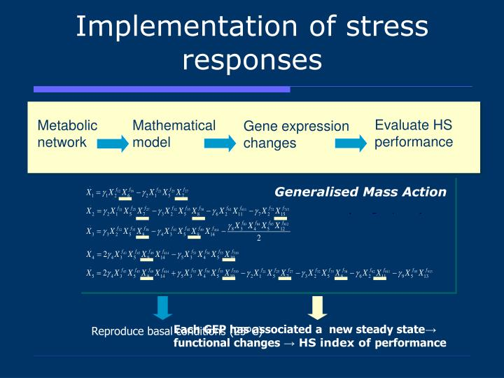 Implementation of stress responses
