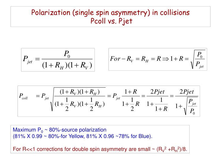 Polarization (single spin asymmetry) in collisions