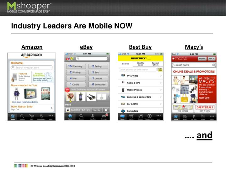 Industry Leaders Are Mobile NOW