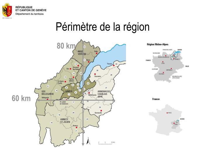 Périmètre de la région
