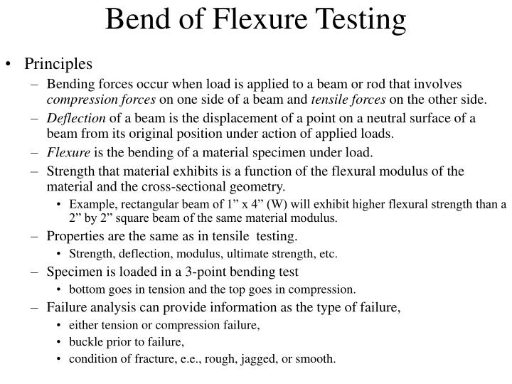 Bend of Flexure Testing
