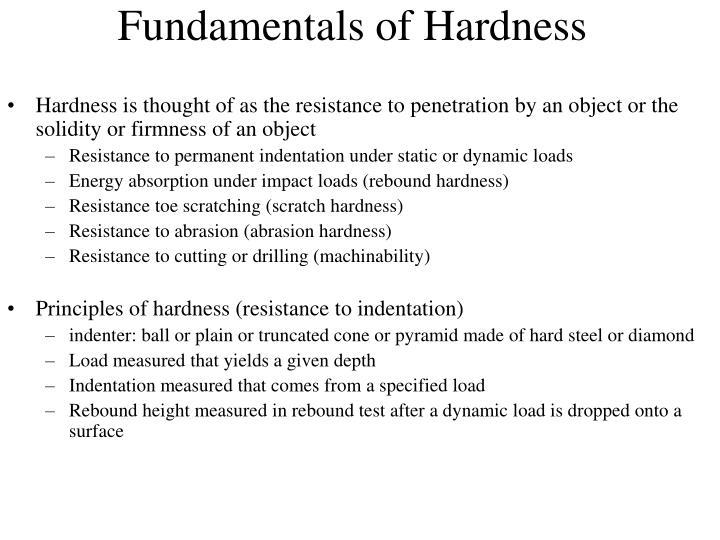 Fundamentals of Hardness