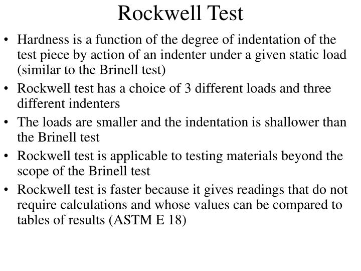 Rockwell Test
