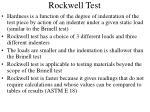 rockwell test