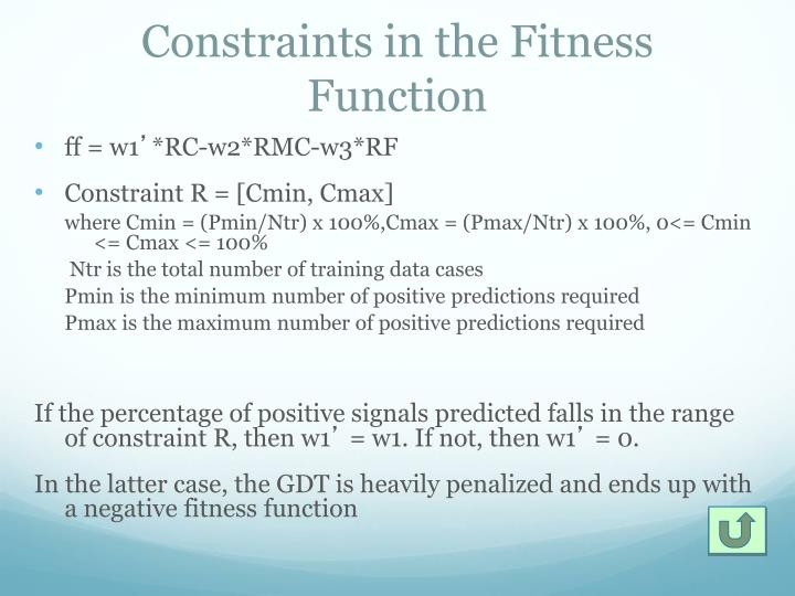 Constraints in the Fitness Function