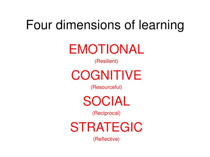 Four dimensions of learning