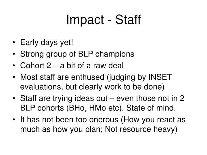 Impact - Staff